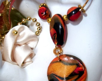 Polymer Clay Beaded Necklace Set