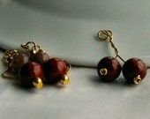 Jasper pendant and dangle earrings - 1st chakra