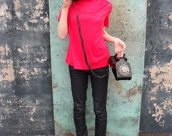 Tart Red Cherry Short Sleeve With Back Zip