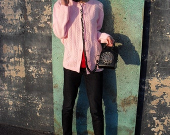Cotton Candy Pink Cardigan