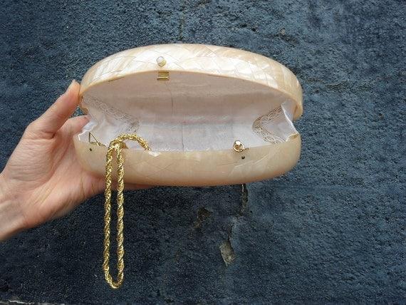 Reserved for Elena Vintage Opalescent  Saks Clutch/Purse
