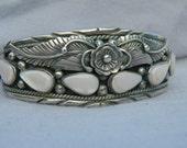 Native American Sterling and Rose quartz bracelet  Thanksgiving, Black Friday, Cyber Monday, Christmas