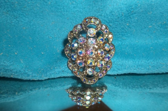 Rainbow Rhinestone Ring for MOTHERS DAY