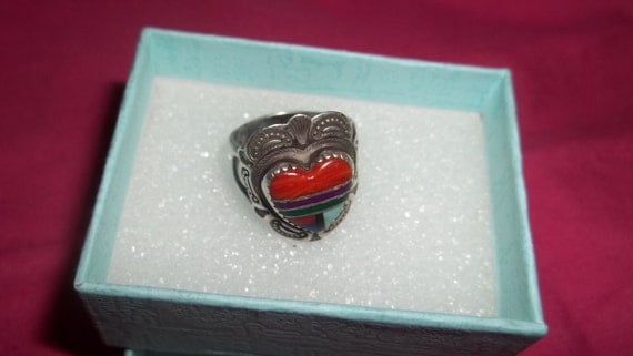 Resereved for Cristina   Just Reduced No Coupons will apply.  Zuni Native American Ring size 6  Sterling Silver, Signed Ring