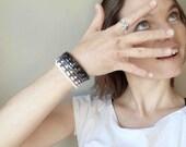 beaded wrap bracelet // ombre jewelry