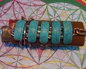 Wire Wrapped Turquoise Lighter Holder ---RESERVED---