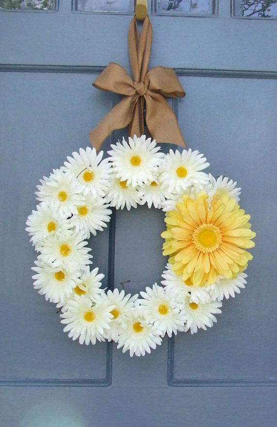 Yellow Mesh Wreath