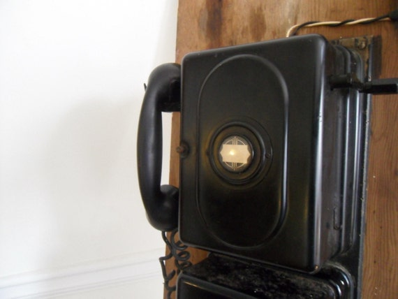 Art Deco Industrial RR Telephone. Illinois Monophone 1930s. Free Shipping