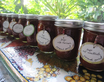 GOURMET SAMPLER, 6 jars of delicious, artisan sauce  (16 oz. jars)