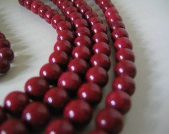 "DOLOMITE MARBLE 200-Count 4mm Round from Asia Red Mountain ""Jade"" Beads Jewelry Making"