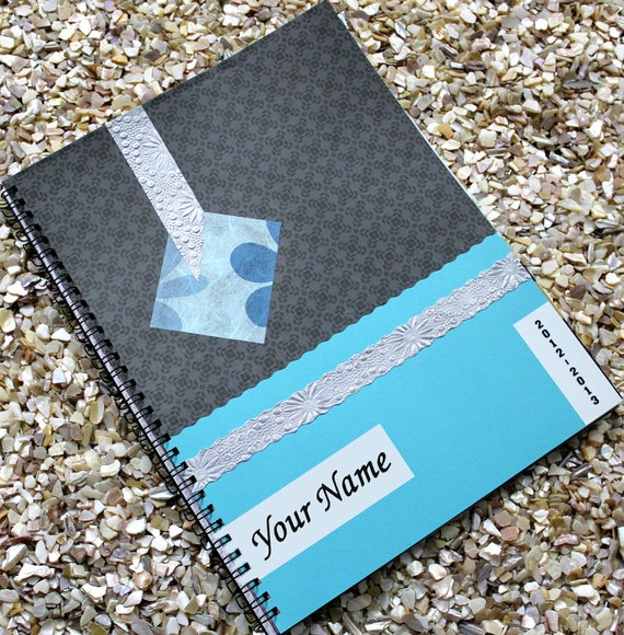 Monthly Planner Personalized 2012  - 2013 with Turquoise Blue Cover
