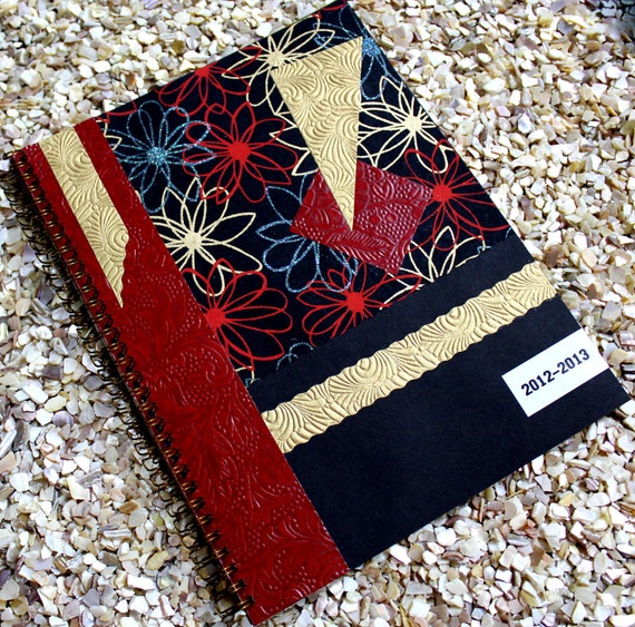 Large Weekly Planner 2012 - 2013 with Red and Black Cover