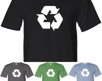 RECYCLE SYMBOL Environmental Logo 100% Organic Cotton T-Shirt
