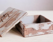 Rustic Wooden Keepsake Box Made from Reclaimed Wood