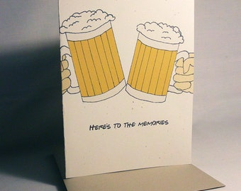 Birthday Card Funny Here's To The Memories