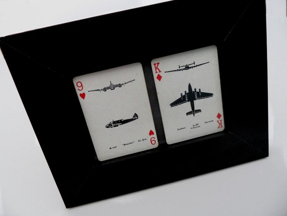 Vintage WWII Spotter Playing Cards -  Ready to ship