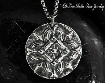 Recycled Silver, Mediterranean, Persian Style, Pendant, Necklace