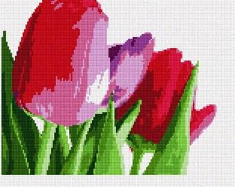 Tulips Needlepoint Kit by Pepita
