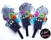 Doctor Who - Tardis Boutonniere - Groom - Prom - Corsage - Lapel Pin - Space -  Sci-Fi - Geek Wedding