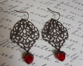 Red Whimsy Earrings