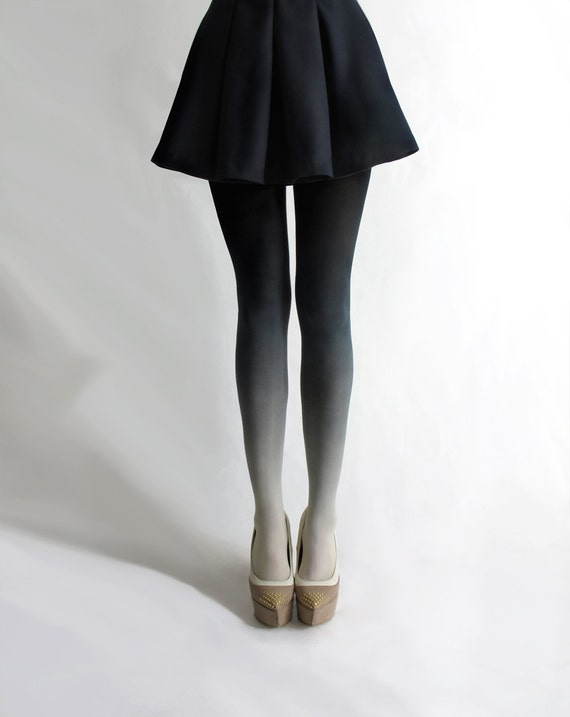 Ombré tights in Coal