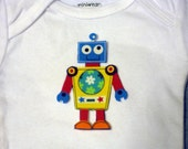 Robot Iron On Applique