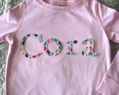 Name or Phrase Iron On Appliques---  Choose any Fabric