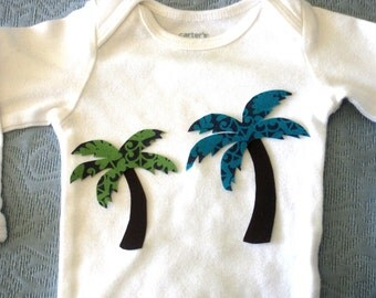 Two Palm Trees Iron On Appliques