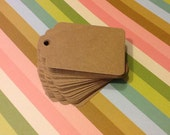 50 Kraft Gift Tags, Hang Tags, Merchandise Tags, Favor Tags, Wish Tree