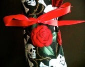 Large Day of the Dead Makeup Brush Roll