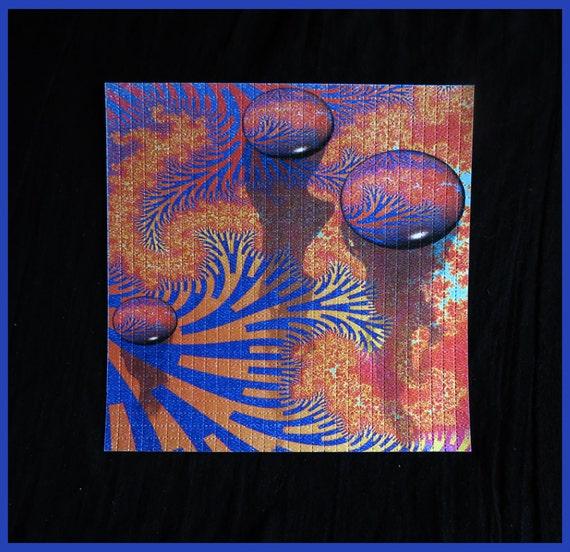 Blotter Art / Fractal Drops / Perforated Print