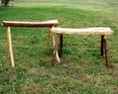 Natural Wooden Benches