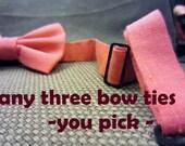 You Choose Any Three - Boys Bow Tie - Free Shipping - Custom, You Pick Any Three Prints