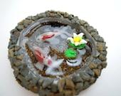 Koi Pond Clay Miniature