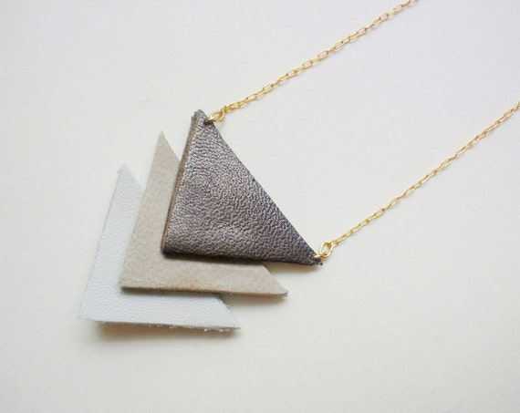 Hit my heart with your arrow -  necklace in bronze & beige - free shipping