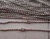100pcs 2.4mm 18 inch white k ball necklace chain with matching connector