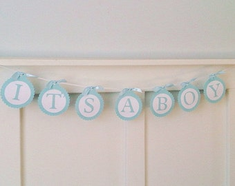 It's A Boy - It's A Girl -  Paper Banner Baby Shower Bunting Nursery Decor