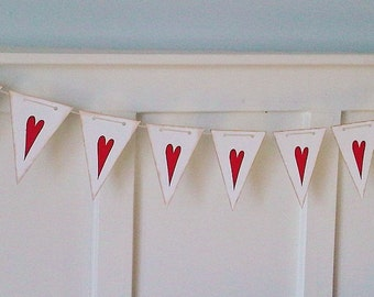 Engagement Photo Props - Save the Date Photo Love Banner - Valentine's Day - Love Banner - Queen of Hearts Alice in Wonderland