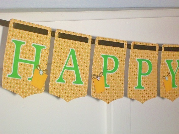 SPRING SAMPLE SALE  Unisex Happy Birthday Paper Party  Banner
