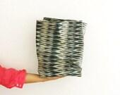 IKAT SACK - forest green abaca fabric basket