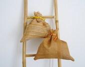 SAKO - abaca sack lamp in striped beige