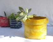 BANSOT - ikat fabric bowl in yellow