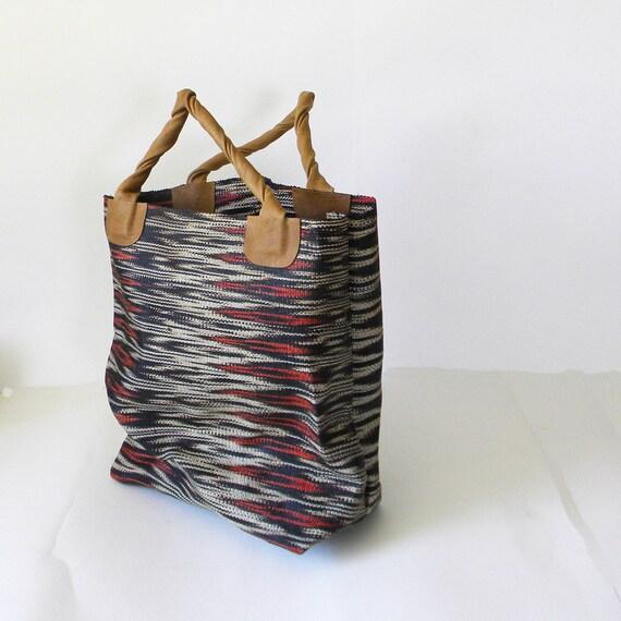 BAYONG - brown ikat tote bag