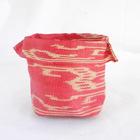 LIIT - ikat fabric bowl in hot pink