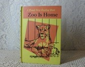 Reader Dolch 1950's First  Reading Book Zoo is Home School Book Elementary Reader
