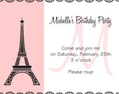 Pink & Paris Birthday - Invitation. Printables By Invitation Only DIY