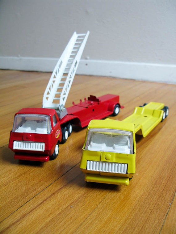 Vintage Metal Tonka Trucks from the 70's set of 2
