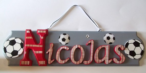 Boys Name Personalized Wall Plaque Sign Any Colors or Theme Baby Nursery, Kids Room