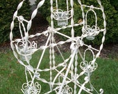 Romantic Wedding centerpiece candle holder vintage white ferris wheel shabby chic