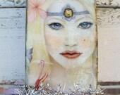 Recycled matchbox fairy themed trinket box stash box reclaimed paper art  Anita Spero